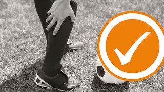 Muskelfaserriss durch Fussball spielen