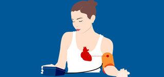 Blutdruck Messgerät Frau Herz Schwerpunkt Selber messen richtig