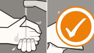 Einfache Sprache: Coronavirus ? Nicht anstecken!