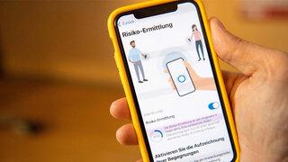 Corona Warn-App Iphone Handy Hand