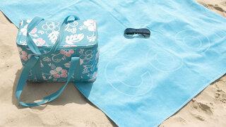 Arzneien in der Sonne Tasche Kühltasche Hitze Muster Handtuch hellblau Kühlen