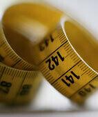 Objektiv messen lässt sich auch das Ausmaß der Adipositas