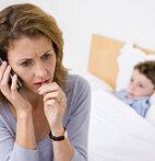 Besorgte Mutter: Keuchhusten kann zu Komplikationen führen