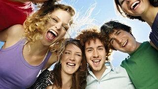 Mit Freunden lachen