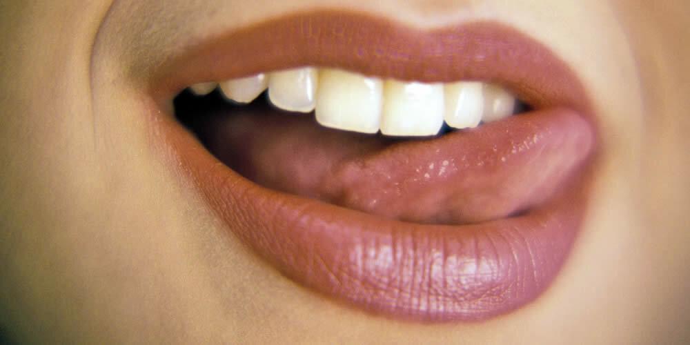 Lippen roter rand entzündete Lippe wird