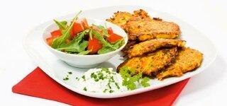 Gemüserösti mit Kräuterdip