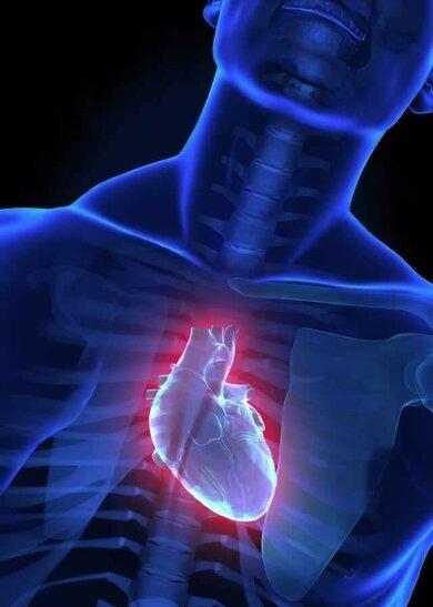 Husten kann auch bei einer Herzschwäche auftreten