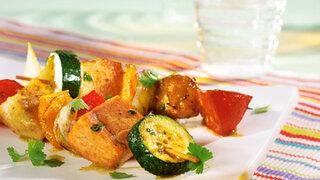 Fischspieße mit Zucchini