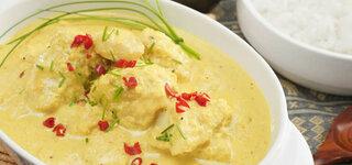 Fischcurry mit Pfirsich