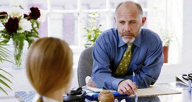 Chefsache? Manche Gesprächssituationen können als angstmachend erlebt werden