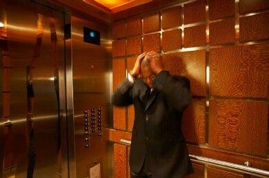 Im Aufzug: Für viele Klaustrophobiker ein Problem