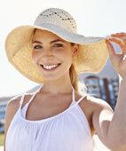 Bei Rosazea die Haut unbedingt vor Sonne schützen!