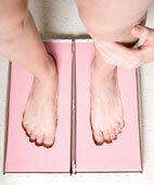 Fußabdruck für orthopädische Schuheinlagen