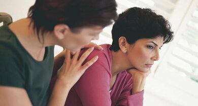 Depressive Verstimmung? Suchen Sie das Gespräch mit einer Vertrauensperson