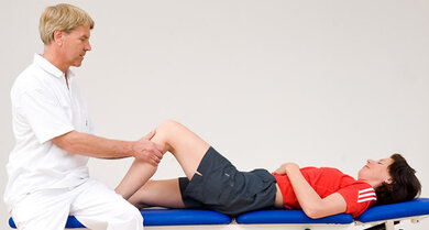 Untersuchung: Wie beweglich ist das Knie?