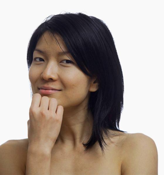 Asiatischer Hauttyp mit mäßigem Sonnenbrand-Risiko