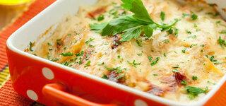 Kohlrabi-Kartoffel-Gratin