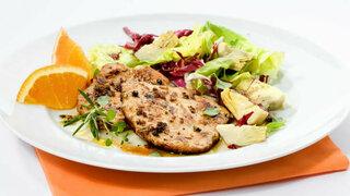 Italienisches Schnitzel mit Salat