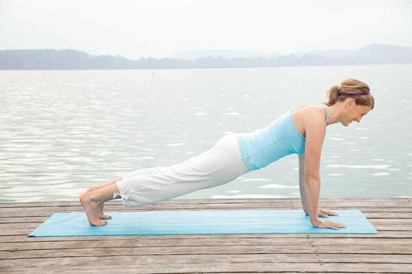 """Yogastellung """"Atem anhalten"""""""