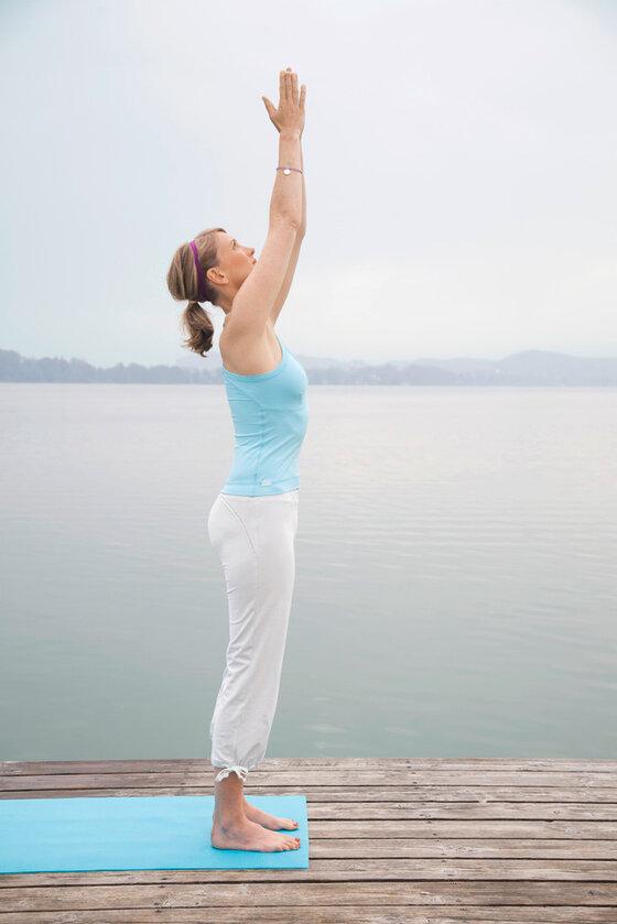 Yogastellung einatmen