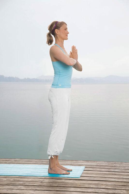 Yogastellung Gebetshaltung