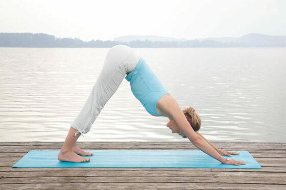 """Yogastellung """"ausatmen"""""""