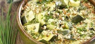 Zucchini-Gratin mit Schnittlauch