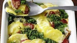 Grünkohl-Kartoffel-Auflauf