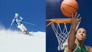 Skifahrer und Basketballspieler haben ein hohes Risiko für einen Skidaumen, eine Seitenbandruptur des Daumes