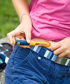 Insulin wird derzeit unter die Haut gespritzt