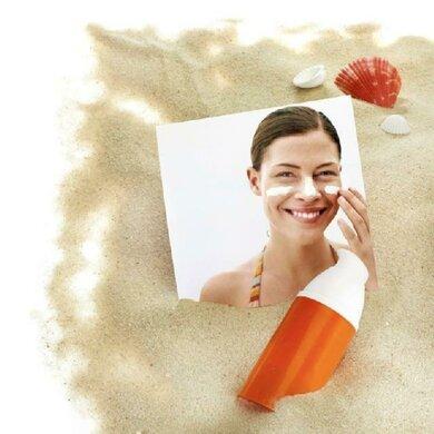 Für frische Haut: Sonnencreme dick auftragen