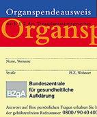 Im Organspendeausweis kann die Entscheidung für oder gegen die Organspende dokumentiert werden