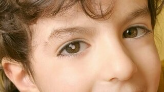 Junge mit Retinoblastom