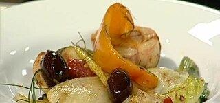 Mariniertes Gemüse mit Oliven