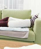 Wadenwickel können auch das Einschlafen fördern