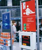 AED: Defibrillator am Frankfurter Flughafen