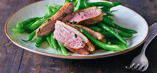 Bohnen-Salat mit Wildenten-Brust