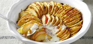 Semmel-Schmarrn mit Äpfelen und Rosinen