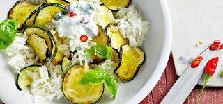 Reis-Zucchini-Salat mit Joghurt