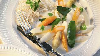 Spargel-Bohnen Gericht