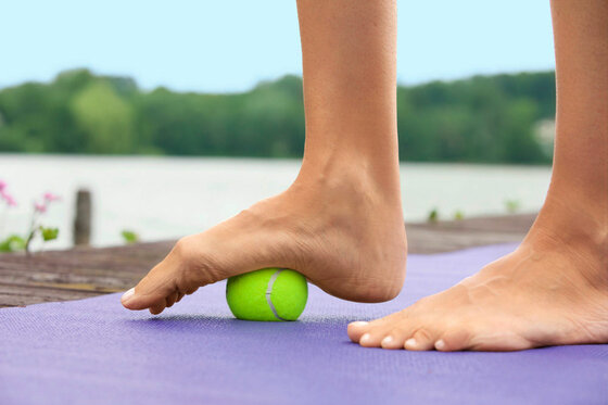 Starke Füße Training