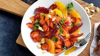 Urmöhren-Salat mit Orangen und Zimt