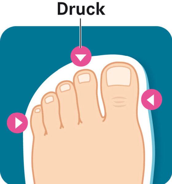 Pflege von Fußnägeln