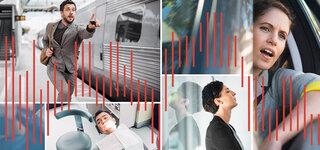 Composing: Nervosität, Stress und Aggression beim Auto fahren, Zug verpassen, beim Zahnarzt