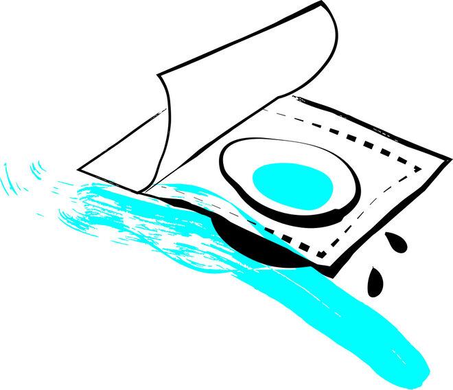 Illustration Kontaktlinse in derVerpackung
