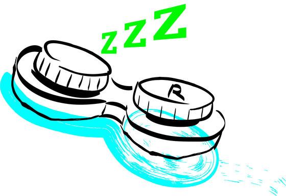 Illustration Kontaktlinsenbehälter