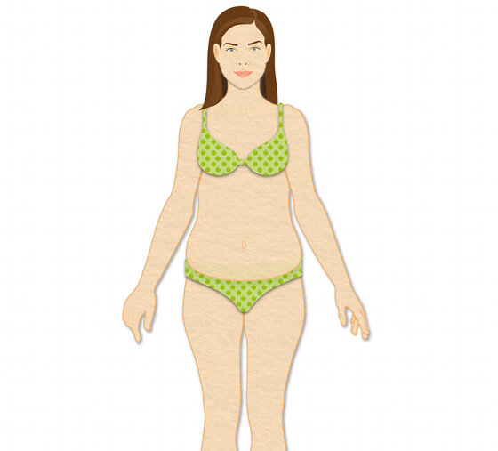 Infografik Illustration Frau