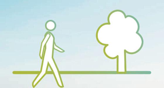 Infografik: Spaziergang, mehr Bewegung an der frischen Luft