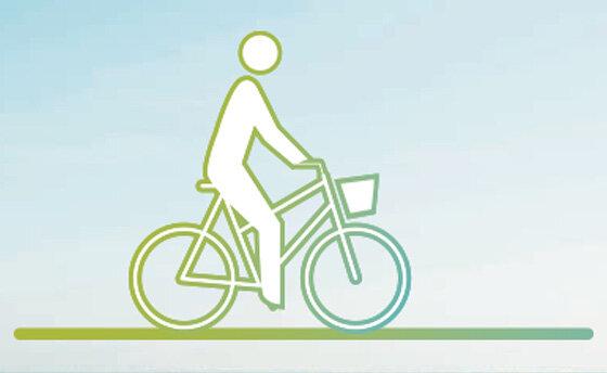 Infografik Fahrrad fahren