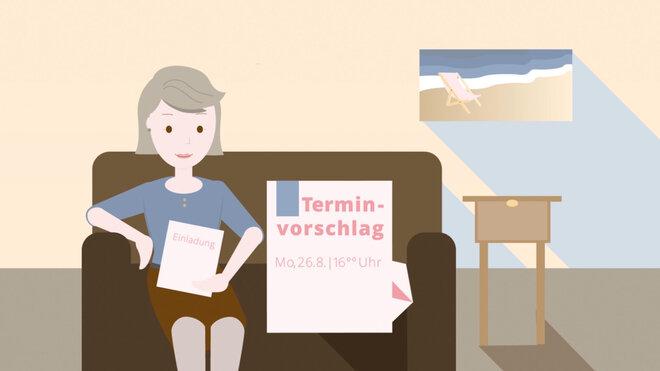 Mammographie: Illustration Terminvorschlag